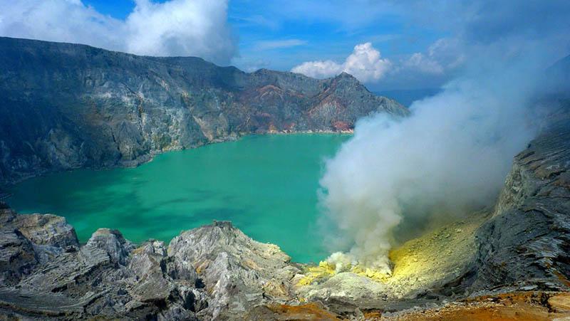 Le volcan Ijen - îles de Java
